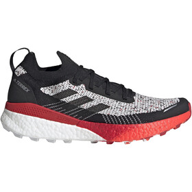 adidas TERREX Two Ultra Parley Hardloopschoenen Heren, crystal white/core black/scarlet